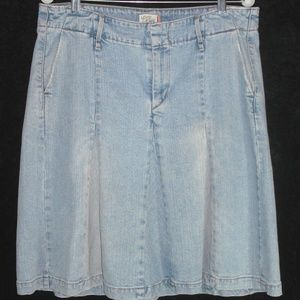 LEVI'S skirt sz 12 Denim Full Gored Knee Length